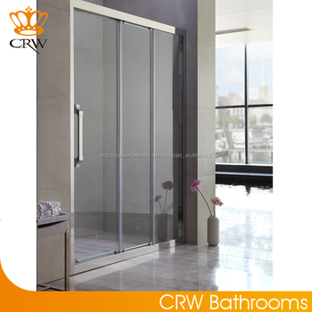 6mm 8mm 3 doors sliding glass shower doors shower panels for 3 panel sliding glass door
