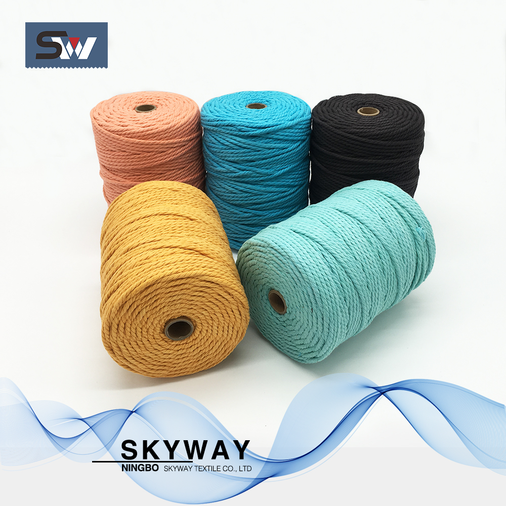 5mm colored cotton rope for crochet