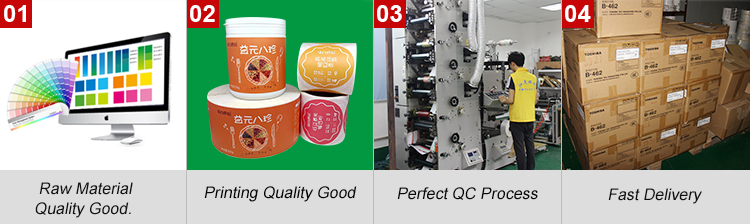 Custom Adhesive Paper Label Stickers Roll For Labelling Gun, Labeling Machine