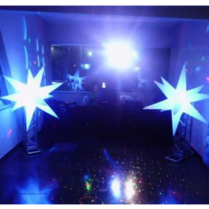 Colorful party event club inflatable hanging led stars lighting balloon decorations