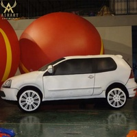 custom made special shape inflatable running car shape ,giant inflatable advertising car model