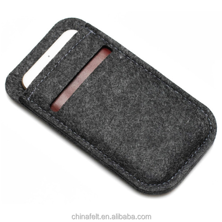 Custom felt <strong>cell</strong> <strong>phone</strong> case <strong>pocket</strong> with credit card <strong>pockets</strong>