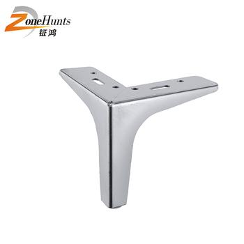 Chromed Metal Sofa Leg Iron Y