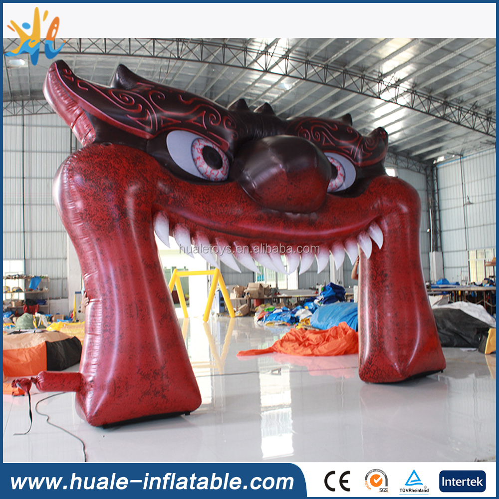 Giant mouth inflatable monster arch for halloween festival