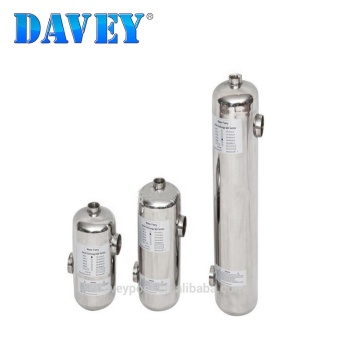 DAVEY Stainless Steel Swimming Pool Shell Tube Heat Exchanger