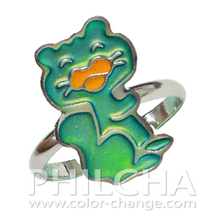 Fashion Children Kids Jewelry Color Change Squirrel Mood Ring for Children