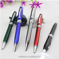 Promotional novelty 2016 custom printed light tip ball pen light pen for computer