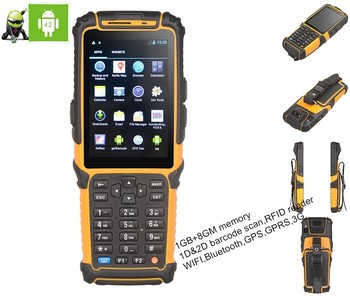 Android 5 1 Os Tablet Pc Data Terminal Barcode Scanner With Display Pda -  Buy Barcode Scanner With Display Pda,Data Terminal,Android 5 1 Os Tablet Pc
