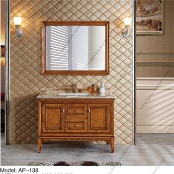 Red Oak Wood Antique Bathroom Furniture