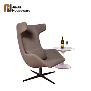 High quality luxury villa furniture fabric living room recliner sofa one high back arm chair