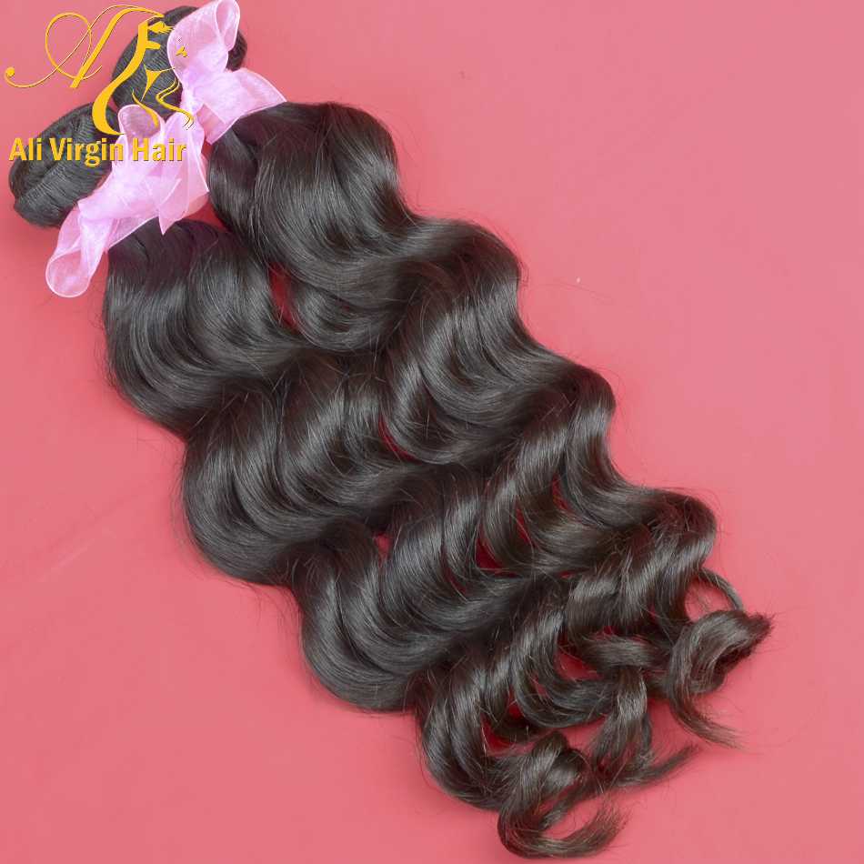 Brazilian Natural Wave Hair <strong>Weave</strong> 7A Grade Unprocessed Virgin Natural Wavy Hair <strong>Weave</strong> 1pc Free Shipping