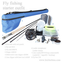 Top quality and best price rod and reel fly fishing kit