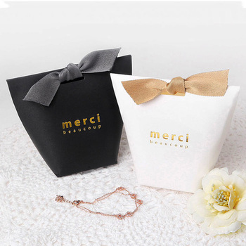 Wholesale  Custom Hot Sales  Luxury  Full  Printed Logo  Foldable  Paper  Box  With Bowknot  For Gifts