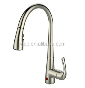 cUPC NSF AB1953 Motion Sense Pull-Down Kitchen Faucet with Brushed Nickel