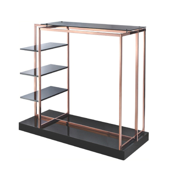 Rose Gold Clothes Display Stand Rack Top with Glass
