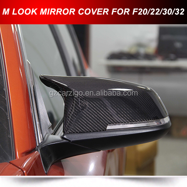FOR BMW F30 F32 M PERFORMANCE TYPE M3 LOOK CARBON REPLACEMENT MIRROR CAPS