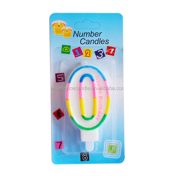 China candle factory supplier number 0-9 birthday candle