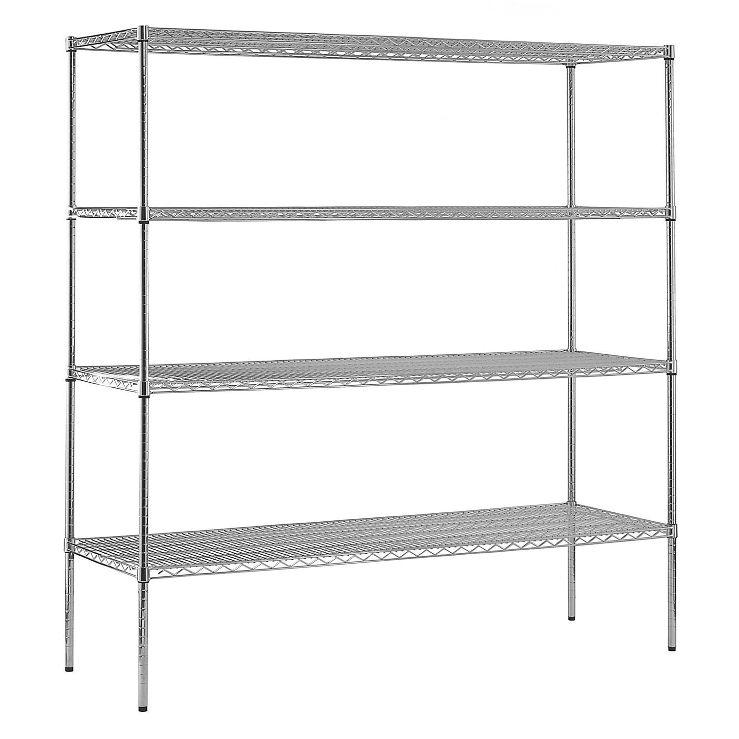 Commercial Industrial Garage Heavy Duty NSF Certified 4-Shelf Wire Shelving