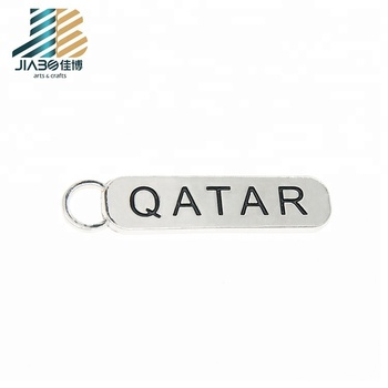 custom metal promotion sublimation blank key chain with logo