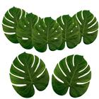 Green Tropical Simulation Leaf Supplies Jungle Beach Theme Table Decorations Palm Leaves