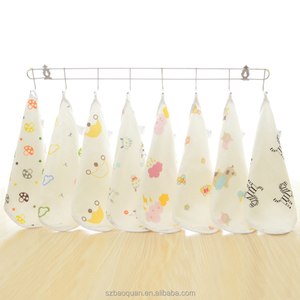 100% cotton custom printed muslin washcloths for baby