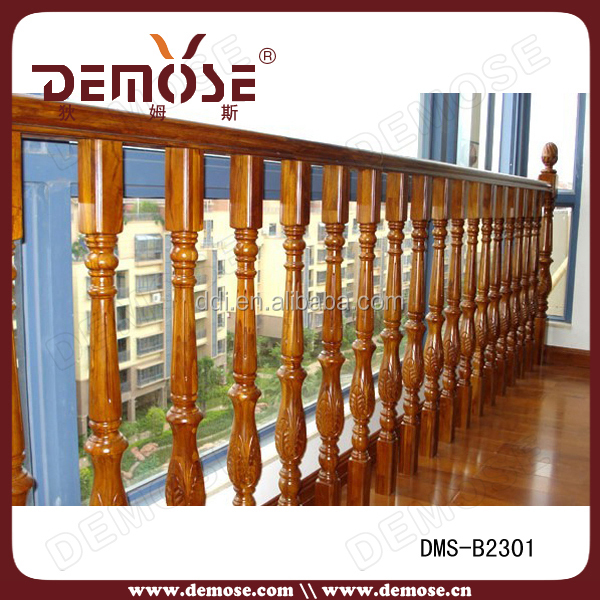 Wood Handrail End Cap/handrail Wood With Iron/round Wood Handrail ...