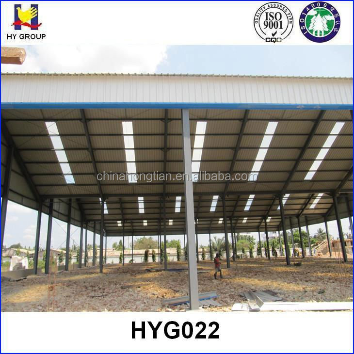 Prefab steel frame structure for hangar