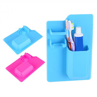 Hot Sale New Product Silicone Toothbrush Stand Toothpaste Storage Box toothbrush holder Kitchen Utensil Bathroom Accessories