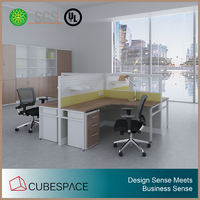China Manufacturer Office furniture 4 seater cubicle workstation