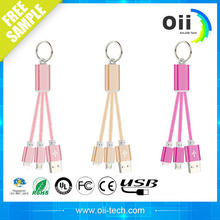 Hot portable portable high quality weaving usb data cable fast charging 2 inch keychain usb cable
