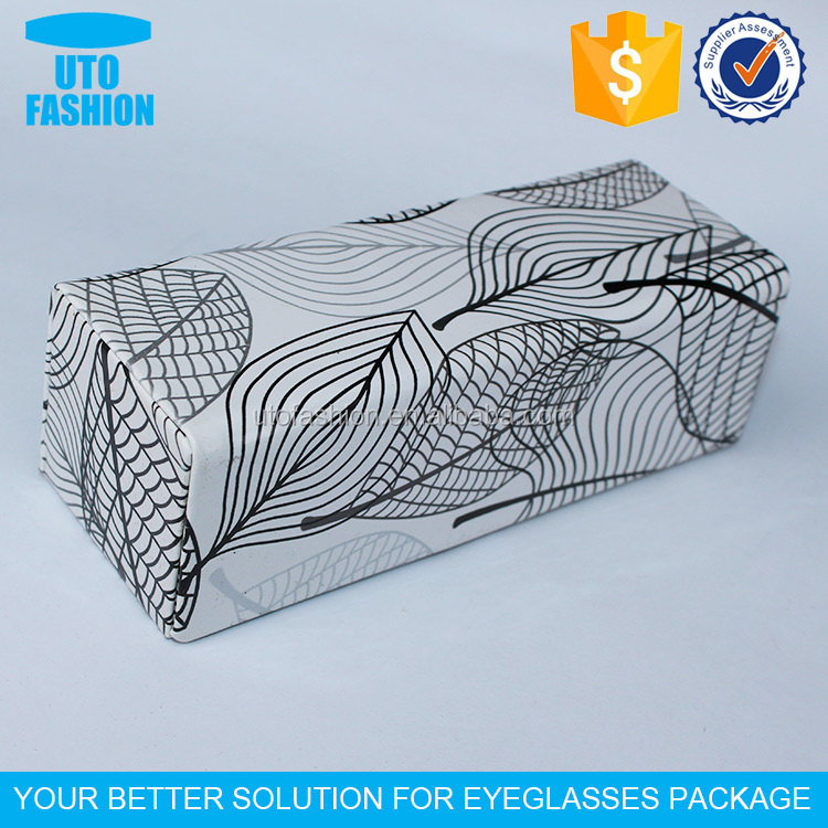 YT4038 Yiwu fancy personalized folding leaves pattern pu leather reading glasses case