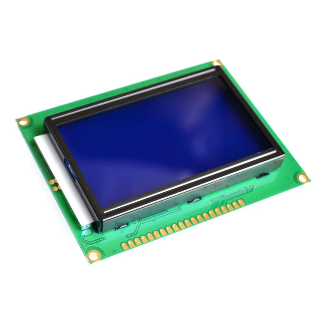 128*64 DOTS LCD module 5V blue screen 12864 LCD with backlight ST7920 Parallel port
