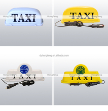 Colorful led light neon signs for taxi cab roof