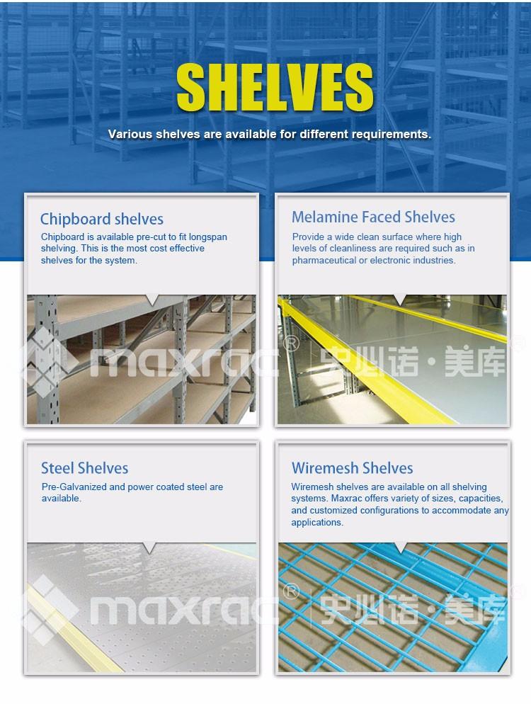 Maxrac 高品質倉庫棚ユニットワイドスパン産業棚