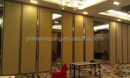 Operable Wooden Veneer Folding Partition Wall Buy Wooden