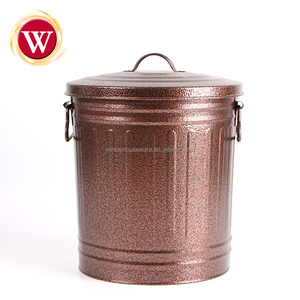 Wholesale large galvanized Copper Metal Bucket Storage Bins
