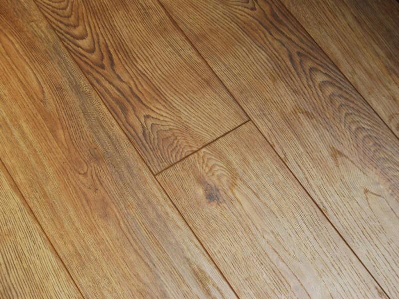 Natural Oak V Groove Handscraped Laminate Flooring 12mm Buy Oak