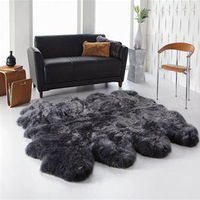 Sheepskin rug manufacturer super soft genuine sheep skin