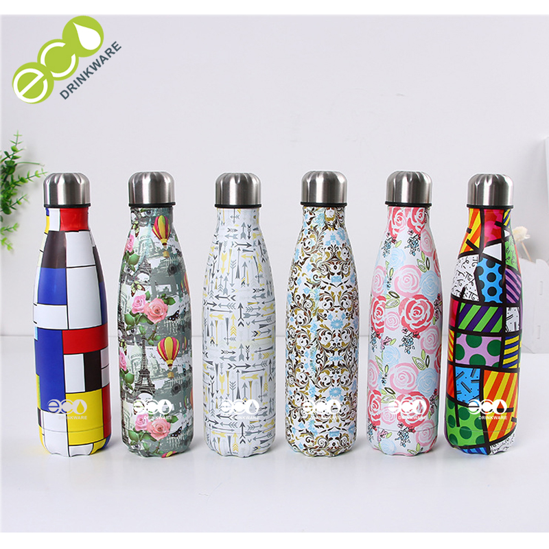 Stocked High Quality thermos Travel Stainless Steel 500ml 18/8 Cola Double Wall Water Bottle