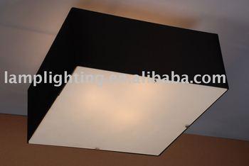 Plafoniere Moderne In Tessuto : Contemporanea quadrato nero tessuto plafoniera buy lampada da
