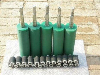 low price rubber roller small conveyor rubber roller