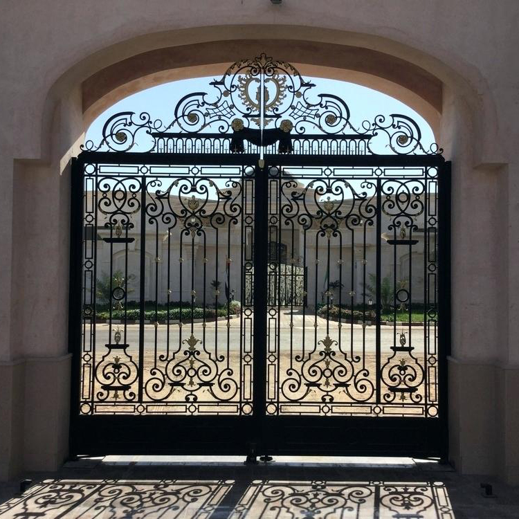 Main Wrought Iron Decorative Gate View Main Gate Ouya Product Details From Xiamen Ouya Industry And Trade Co Ltd On Alibaba Com