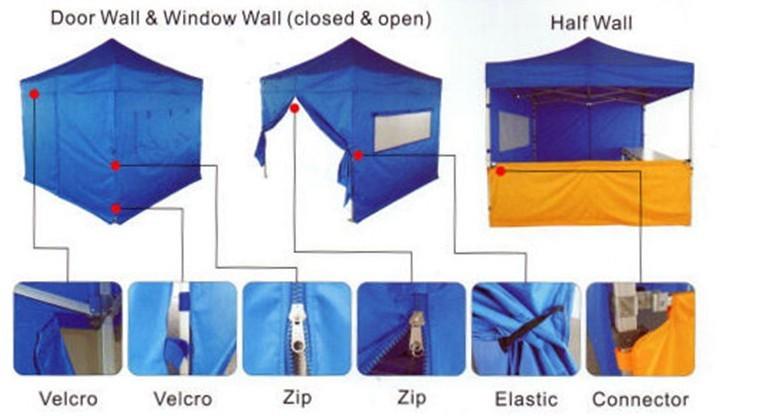 Manual Assembly Gazebo Tent 2x2 3x3 4x4 5x5 7x7 Buy