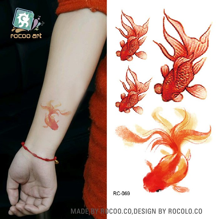 Rc 0692016 Nieuwe Leuke Tattoo Serie Veiligheid Tijdelijke Tattoos Koi Tattoo Ontwerpen Buy Koi Tattoo Ontwerpentijdelijke Vis Tattoo