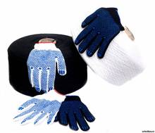 Brand MHR Doha Hot Sell Navy Blue Knitted Gloves from Linyi with Good Quality