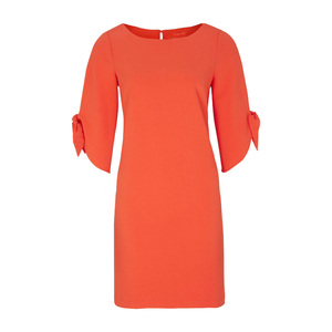 Current Perfect Flared 3/4-Length Sleeves with Cut-outs Wrap Dress