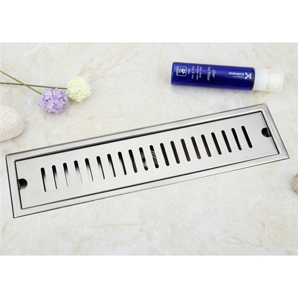 Direct factory price brushed finish anti-odor shower long floor drain