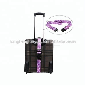 Custom printed dye sublimated 5cm x 180cm tsa luggage belt