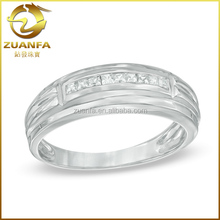 pave diamond mens silver gold wide band rings