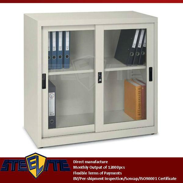 Vertical Tall Lab Metal Storage Cabinets Slide Door Metal